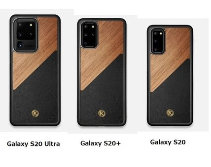 Unisex Made of Wood Logo Galaxy Smart Phone Cases