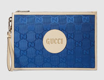 GUCCI Unisex Nylon Blended Fabrics Street Style 2WAY Leather Logo
