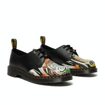 Dr Martens 1461 Unisex Street Style Collaboration Leather Deck Shoes Logo