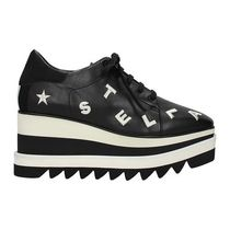 Stella McCartney ELYSE Square Toe Platform Rubber Sole Lace-up Casual Style