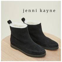 Jenni Kayne Platform Round Toe Casual Style Suede Plain Boots Boots