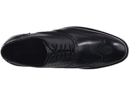 Wing Tip Loafers Plain Leather Loafers & Slip-ons