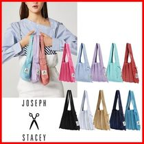 JOSEPH&STACEY Casual Style Street Style Logo Totes