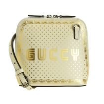 GUCCI Dots Casual Style Vanity Bags Leather Party Style