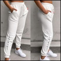WHITE FOX Casual Style Sweat Blended Fabrics Street Style Plain Cotton