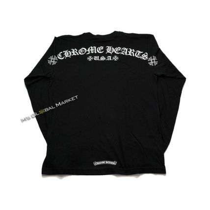 CHROME HEARTS SCROLL Unisex Long Sleeves Cotton  T-shirt Large size