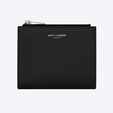 Saint Laurent Unisex Folding Wallet Logo Card Holders