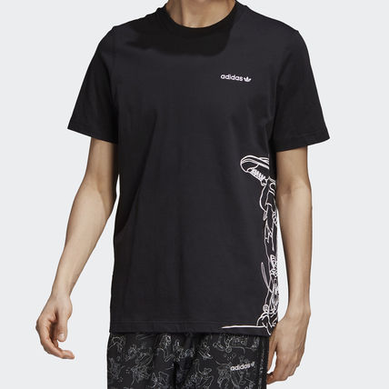 adidas Unisex Blended Fabrics Street Style V-Neck Collaboration