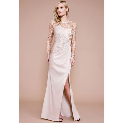 Tight Maxi Long Sleeves Long Lace Bridal Dresses