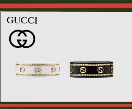 GUCCI Unisex Logo Rings