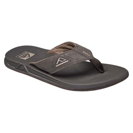 REEF Leather Sport Sandals Shower Shoes Flipflop Logo