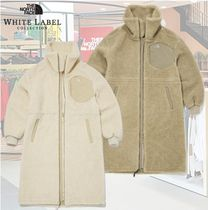 THE NORTH FACE WHITE LABEL Plain Shearling Logo Coats