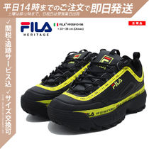 FILA Disruptor 2 Unisex Blended Fabrics Street Style Bi-color Leather