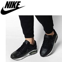 Nike AIR MAX Blended Fabrics Street Style Plain Leather Logo Sneakers