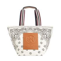 Tory Burch ROBINSON Stripes Flower Patterns Casual Style Nylon Street Style A4
