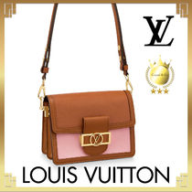Louis Vuitton TAURILLON Casual Style Calfskin 2WAY Plain Leather Party Style