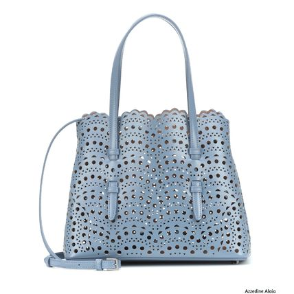 Casual Style Bag in Bag Plain Leather Elegant Style Totes