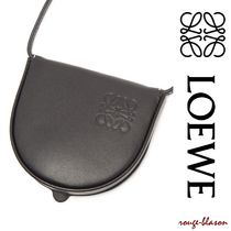 LOEWE Unisex Street Style Plain Leather Logo Coin Cases