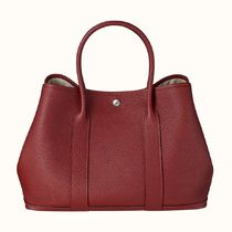 HERMES Garden Party Casual Style A4 Leather Elegant Style Totes