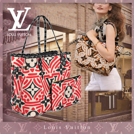 Louis Vuitton MONOGRAM Monogram Canvas Blended Fabrics Bag in Bag A4 Bi-color