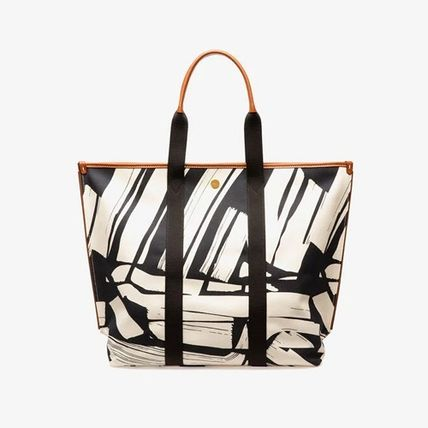 Casual Style Canvas Logo Totes