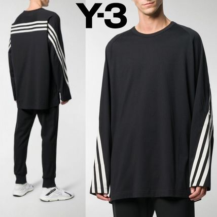 Pullovers Stripes Street Style Long Sleeves Plain Cotton