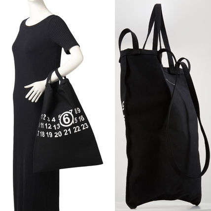 Casual Style Unisex A4 2WAY Logo Totes