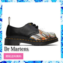 Dr Martens Unisex Street Style Collaboration Leather Deck Shoes Logo