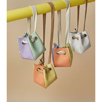 Casual Style 3WAY Plain Leather Party Style Purses