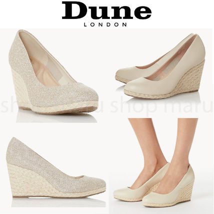 Round Toe Casual Style Plain Leather Party Style