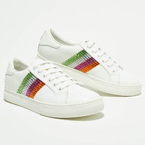 MARC JACOBS Casual Style Unisex Leather Low-Top Sneakers