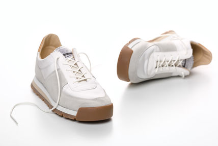 Unisex Suede Street Style Plain Leather Sneakers