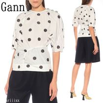 Ganni Dots Casual Style Short Sleeves Shirts & Blouses