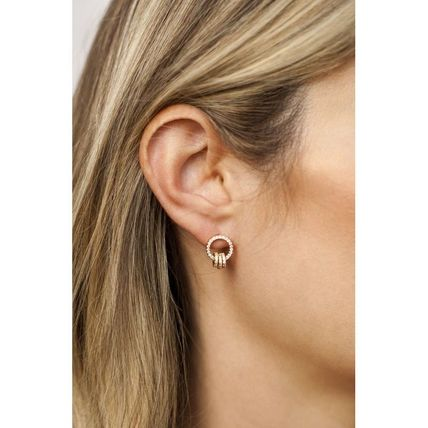 Casual Style 18K Gold Office Style Elegant Style Earrings