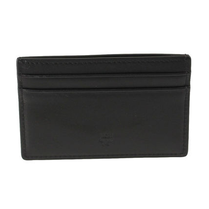 MCM Card Holders Leather Logo Card Holders 3