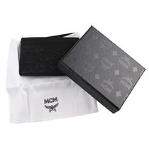 MCM Card Holders Leather Logo Card Holders 4