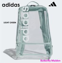 adidas Casual Style Street Style Crystal Clear Bags Logo Backpacks