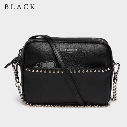 Casual Style Calfskin Blended Fabrics Studded 2WAY Chain