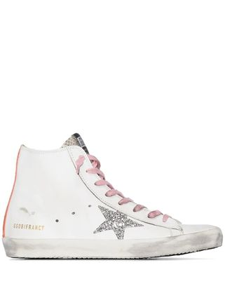 Star Round Toe Rubber Sole Casual Style Street Style Leather