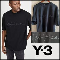 Y-3 Crew Neck Pullovers Unisex Street Style Collaboration Plain
