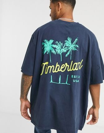 Crew Neck Tropical Patterns Street Style Cotton