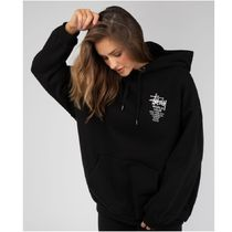 STUSSY Long Sleeves Cotton Oversized Logo Hoodies & Sweatshirts