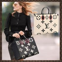 Louis Vuitton Casual Style Canvas Street Style A4 3WAY Leather