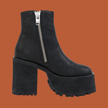 UNIF Clothing Platform Street Style Leather Boots Boots