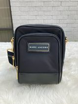 MARC JACOBS Casual Style Nylon Plain Leather Office Style Crossbody