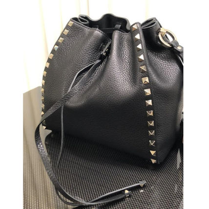 VALENTINO Casual Style Plain Leather Party Style Elegant Style