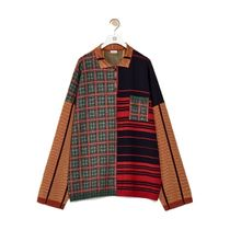 LOEWE Stripes Other Plaid Patterns Casual Style Wool Long Sleeves