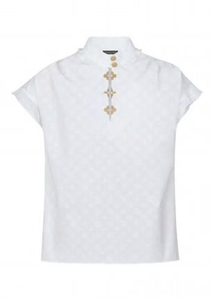 Louis Vuitton Casual Style Cotton Short Sleeves Office Style Elegant Style
