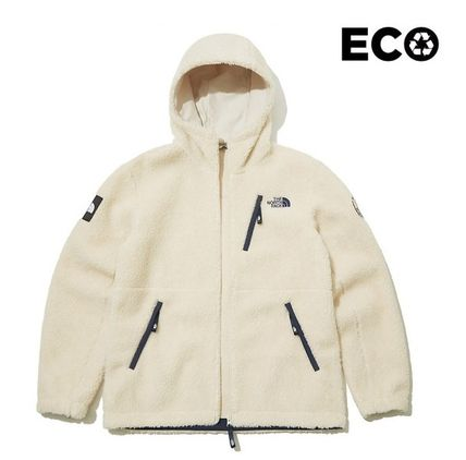 THE NORTH FACE WHITE LABEL Unisex Street Style Logo Fleece Jackets Jackets