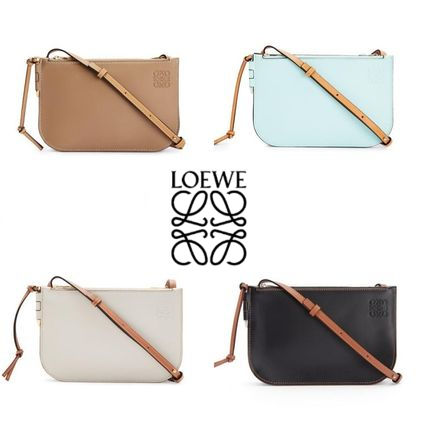 LOEWE Gate Double Zip Pouch In Soft Calfskin